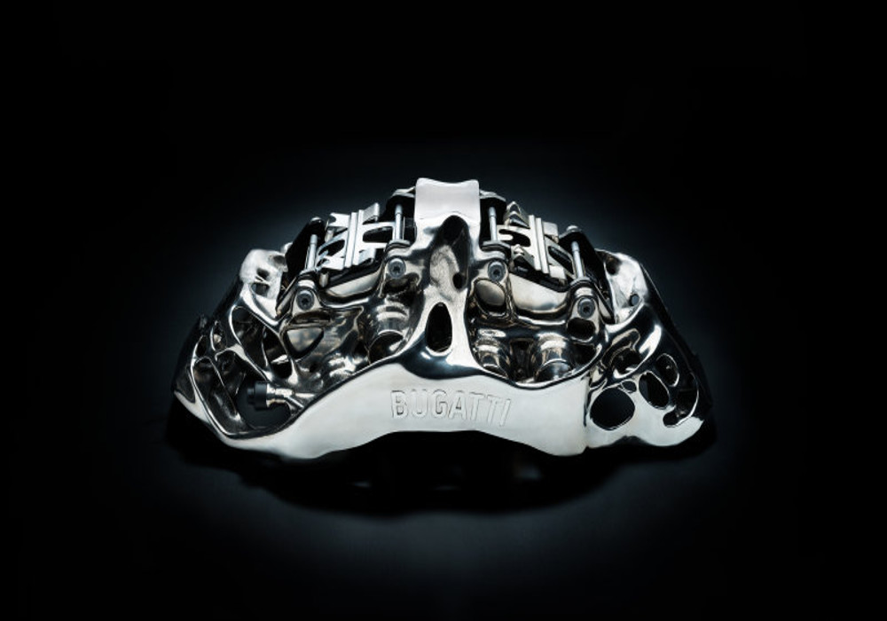 News : Bugatti's 3D-printed titanium brake caliper