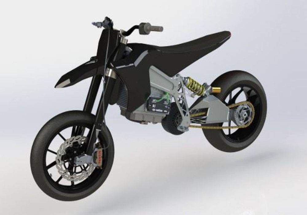 Electric : Axiis comes with electric Super Moto