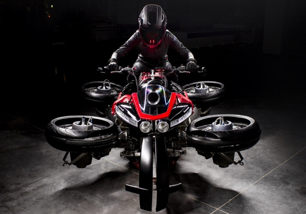 News : Flying motorcycle ' Lazareth 496' to go on sale from Oct 2019 with price tag of 496,000 euros