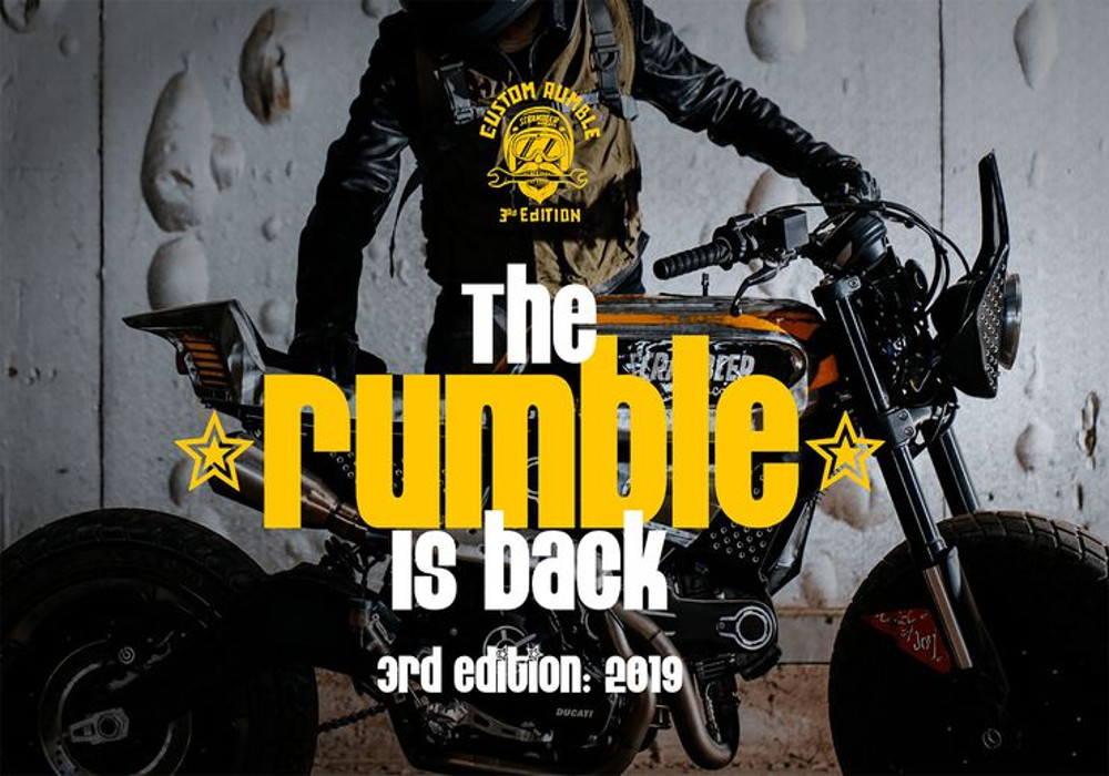 "News : Ducati Scrambler Custom Competition "" The Rumble "" is back"