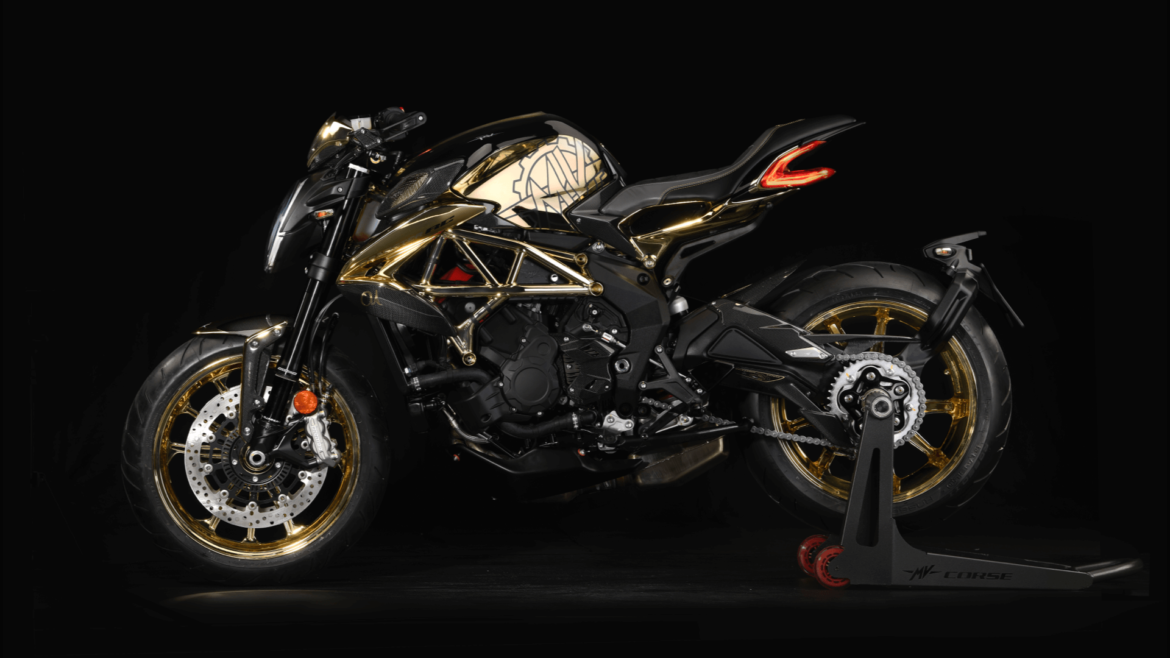 News : M V Agusta creates gold Dragster 800 RC exclusive for its client