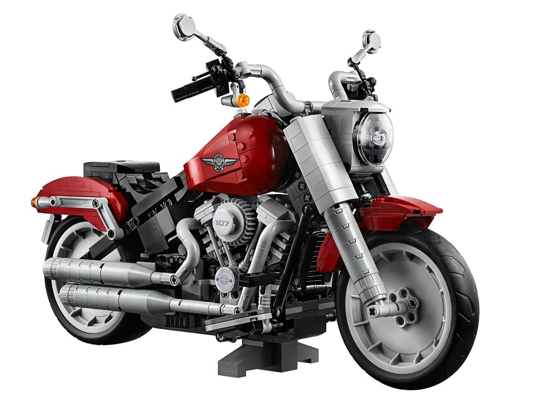 News : Lego brings miniature model components of Harley Fat Boy created in 865 hrs